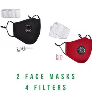 Accessories - 💎DEAL💎 2 Washable Black and Red Face Covers